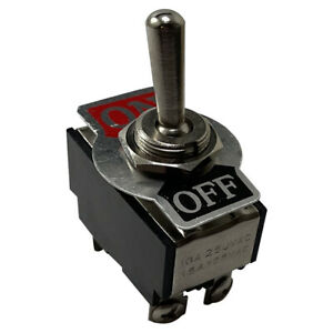 Heavy Duty Double Pole Momentary On Off Metal Toggle Switch 20 Amp 12 V Fit 1 2