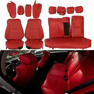 For 2018 21 Honda Accord Sport Ex Hybrid Sedan Synthetic Leather Seat Covers Set