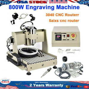 Usb 5 Axis Cnc Router 3040 Engraver 800w Drilling Milling Wood Machine Cutter