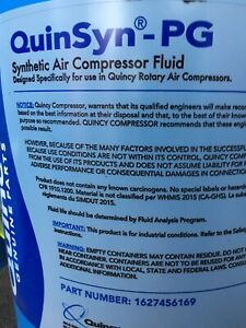 15 Gallons Quinsyn pg Synthetic Air Compressor Fluid Quincy Air Compressors