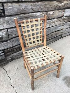 Old Hickory Chair Company Antique Rustic Chair Sturdy Verified 1940 S