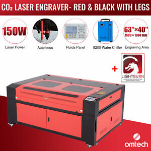150w 63 x40 Co2 Laser Engraver Cutter With Lightburn Cw 5200 Water Chiller
