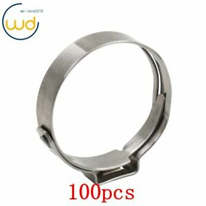 New 100 Pcs 1 Pex Stainless Steel Clamp Cinch Ring Crimp Pinch Fitting Tubing