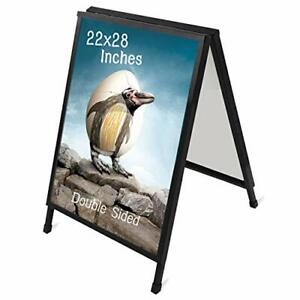 T sign 22 X 28 Inch Slide in Folding A frame Sidewalk Curb Sign Double sided