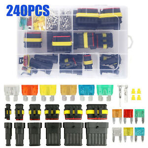 240pcs 1 6pin Car Electrical Wire Connectors Plug Kit Waterproof Sealed Plugs