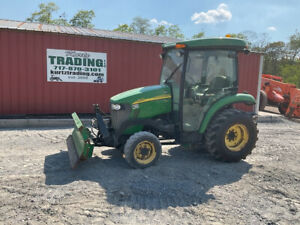 2012 John Deere 3520 4x4 Hydro Compact Tractor W Cab Snow Blade 1000 Hours