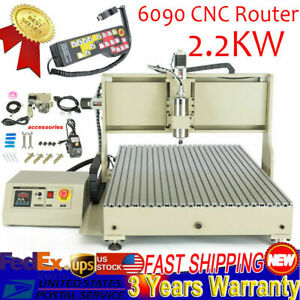 Engraver Usb 4axis Cnc Router 6090 Engraving Machine Drilling Carve 2 2kw 110v T