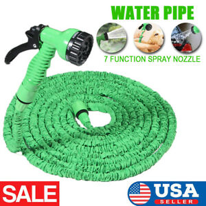 Deluxe 100ft Expandable Flexible Garden Car Water Hose Water Pipe Green Us Stock