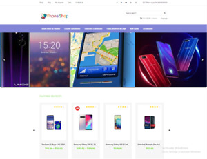 Drop Shipping Affiliate Phone Store Ecommerce Website For Sale Free Hosting