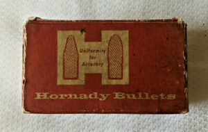 Vintage Hornady 30 Cal 150 gr. 308 100 count Round Nose Collectors Box Only $5.99