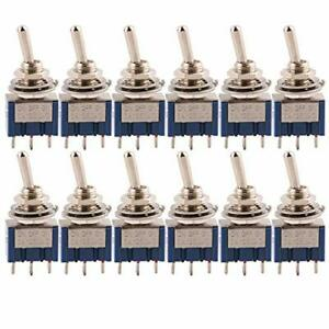 Cesfonjer 12 Pcs Spdt Mini Micro Toggle Switch On off on 3 Pins 3 Position Mi