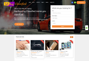 New Beautiful Classified Website turnkey Income free Hosting With Cpanel