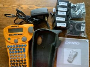 Dymo Rhinopro 5000 Barcode label Printer With Protective Cover More