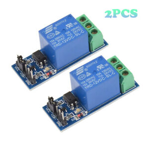 2pcs 12v 1 Channel Relay Module Shield With Optocoupler For Arduino Pic Avr Arm