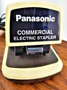 Vintage Panasonic Commercial Electric Stapler As 300n Heavy Duty Up To 25 Sheets