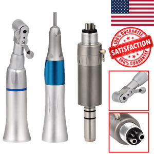 Dental Slow Low Speed Handpiece Contra Angle Straight Air Motor E type Kit Usa