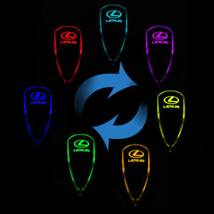 Led Light Manual Gear Shift Knob Multi Color Touch Activated Sensor For Lexus