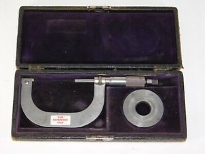 Antique 1902 Brown Sharpe 52a 2 3 Outside Micrometer Vtg Machinist Hand Tool