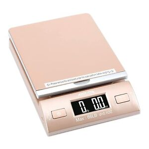 Accuteck Led Digital Postal Scale 86lbs With Usb And Ac Adapter Gold