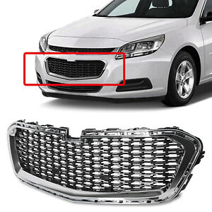 Chrome Front Bumper Grille Mesh Lower Grille Overlay For Chevy Malibu 2014 2015