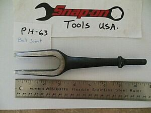 Snap On Tools Air Pneumatic Impact Hammer Bit Ph63 Ball Joint Tie Rod Separator