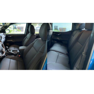 For 2016 2021 Toyota Tacoma Double Cab Front Rear Seat Covers New Black Full Set