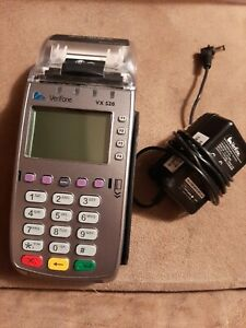 Verifone Vx520 Credit Card Terminal Chip Reader W Power Supply Free Shipping