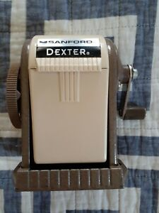 Sanford 51133 Dexter Pencil Sharpener Table Or Wall mounted Tan Six position
