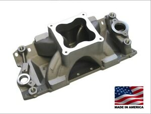 Bmp 061050 Small Block Chevy Aluminum Intake Manifold 4500 Dominator Carb Flange