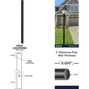 7 Ft Black Outdoor Direct Burial Lamp Post With Dusk To Dawn Photo Sensor Fits