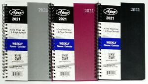2021 Weekly monthly Planner Calendar Agenda Organizer 5 X 8 Select Color