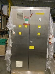 Hoffman Stainless Electrical Enclosure Control Cabinet A904820ssfsd 90x48x20