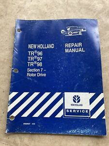 New Holland Tr96 Tr97 Tr98 Combine Rotor Drive Service Manual