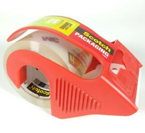 3m Scotch Shipping And Packing Clear Tape With Dispenser 1 88 x800 22 2 Yards