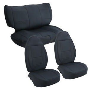 For 97 02 Jeep Wrangler Tj 4wd New Black Front Rear Seat Cover Set