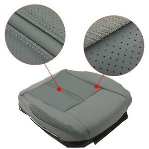 For 05 07 Jeep Grand Cherokee Front Leather Seat Cover Driver 2 Tone Gray