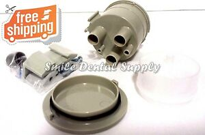 Vacuum Canister Kit Bracket Mounted Gray Trap Dental Dci 5860