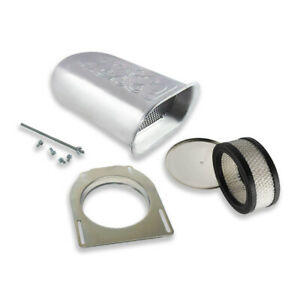 Aluminum Hilborn Style Flame Hood Air Scoop Kit W Single 4 Bbl Carb Polished