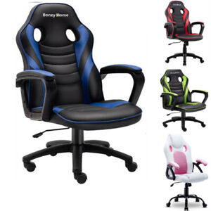 Leather Executive Office Desk Ergonomic Swivel Computer Racing Gaming Chair Seat