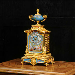 Sevres Porcelain And Ormolu Antique French Clock Stunning