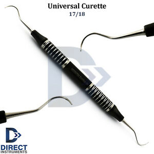 Dental Universal Curette 17 18 Periodontal Scaling Calculus Removal Black Grip