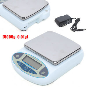 Digital Analytical Balance High Precision Electronic Lab Scale 5kg 0 01g