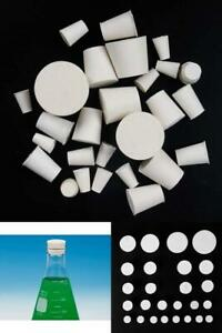 26 Pack Solid Natural Rubber Stopper Laboratory Applications Test Tube Flask