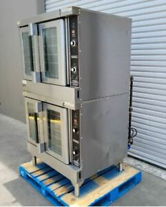 Used Hobart Hgc5 Gas Double Convection Oven