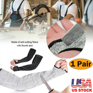 1 Pair Safety Protective Arm Sleeve Guard Cut Proof Anti Cut resistant Gloves Us