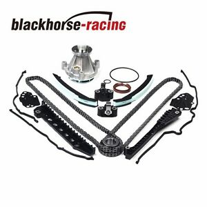 Timing Chain Water Pump Kit Cover Gasket Fits Ford Lincoln 5 4l 3v 04 08 New