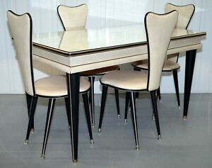 Umberto Mascagni 1950s Credenza Dining Table Chairs