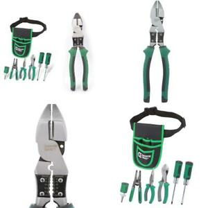 7 piece Electrician s Tool Set With Pouch And 9 In High leverage Multi purpose