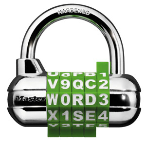 Set your own 5 dial Word number Combination Padlock