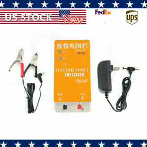 Electric Ranch Animal Orchards Fencing Charger Solar Fence Energizer Controller